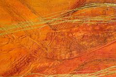 Orange abstract painting with Stock Photo