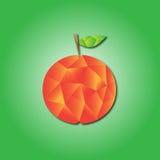 Orange abstract polygon illustrator. On green background Royalty Free Stock Photo