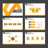 Orange Abstract presentation template Infographic elements flat design set for brochure flyer leaflet marketing. Advertising Stock Photos