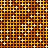 Orange Abstract Seamless Background with Dotted Spot. Vector Royalty Free Stock Photography