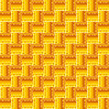 Orange abstract seamless pattern with squares.  Stock Photo