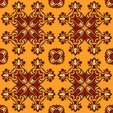 Orange abstract Seamless vector background. Orange Vintage abstract Autumn Seamless vector backgroun Stock Photography