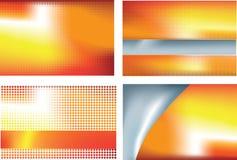 Orange abstract set 4 Royalty Free Stock Image