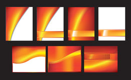 Orange abstract set of 7 Stock Photography