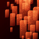 Orange and black techno abstract background vector illustration