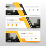 Orange abstract triangle corporate business banner template, horizontal advertising business banner layout template flat design Royalty Free Stock Images