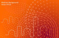 Orange abstract vector background. With gradient effect. Modern style template design Royalty Free Stock Photography