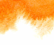 Orange abstract vector watercolor textured background Stock Photography