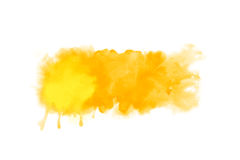 Orange abstract watercolor artwork background banner Stock Images