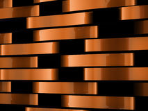 Orange abstract waves background Stock Photography