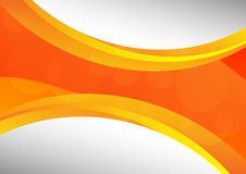 Orange abstract waves background vector and copy space.  Royalty Free Stock Photography