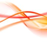 Orange abstraction on a white. Orange and red lines on a white background