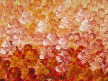 Orange abstrakt gemalt Stockfotos