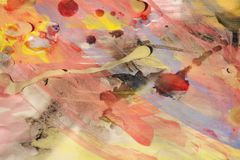 Orange abstrakte Hintergrund- und Wachsformen des Aquarells Lizenzfreie Stockfotografie