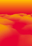 Orange abstrakte polygonale Landschaft Stockfoto