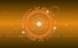 Orange abstrakter industrieller runder Kreis in den orange Farben für Unternehmensartbroschüren, Kalender, Darstellungen stock abbildung
