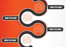 Orange abstrakter vektorRetro- Hintergrund Lizenzfreies Stockfoto