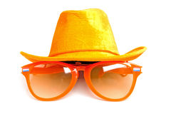 Orange accessories for Dutch soccer Royalty Free Stock Photos