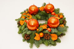 Orange advent wreath Royalty Free Stock Images