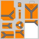 Orange affärsvektoruppsättning Fotografering för Bildbyråer