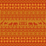 Orange African texture Royalty Free Stock Images