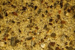 Orange Aged cement wall texture, rock background, cracked surface. For web site or mobile devices Royalty Free Stock Photos