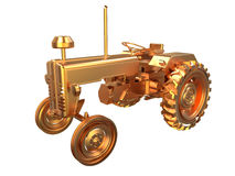 Orange aged tractor Stock Image