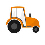 Orange agrimotor . Farm machines. Tractor for agriculture. On white Stock Images