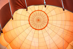 Orange air balloon detail Royalty Free Stock Images
