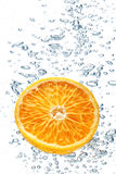 Orange and air bubbles Royalty Free Stock Photos