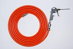 Orange air hose Stock Photo