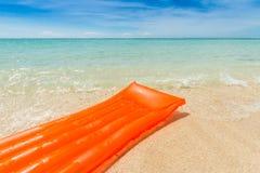 Orange air mattress Royalty Free Stock Images