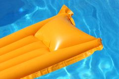 Orange airbed stock image