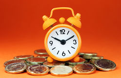 Orange Alarm Clock Royalty Free Stock Photos