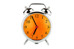 Orange Alarm Clock Stock Photography