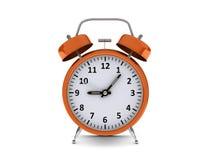 Orange alarm clock Royalty Free Stock Photography