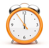 Orange alarm clock 3d. Icon.  on white background Stock Image
