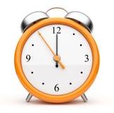 Orange alarm clock 3d. Icon.  on white background Stock Image