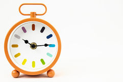 Orange Alarm Clock Stock Image