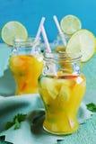 Orange alkoholfreies Getränk Stockbild