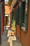 Orange alley Stock Photo