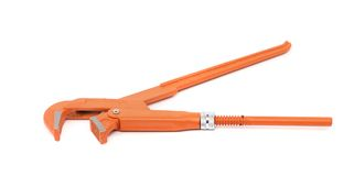 Orange alligator wrench Stock Images
