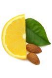 Orange with almond Stock Photo