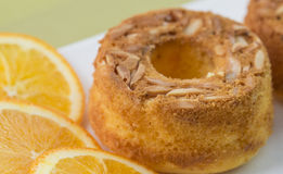 Orange Almond Cake Stock Photo