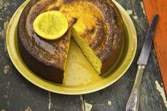 Orange almond moroccan cake Royalty Free Stock Photo