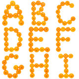 Orange alphabet Stock Image