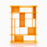 Orange Aluminiumregale Stockbild