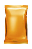 Orange aluminum foil bag Royalty Free Stock Photos