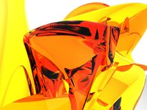 Orange Amber Mountain. Super realistic 3D rendering of an abstract form (3D Studio Max with Vray Stock Photography