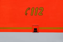 Orange ambulance Stock Images